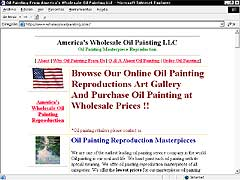 America´s whole sale oil paintings